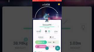 Pokémon Go Gen 4 Evolving Sneasel to Wealive