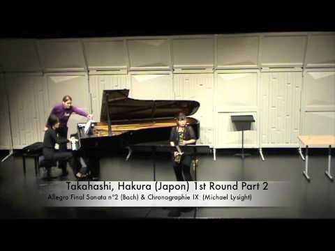 Takahashi, Hakura Japon 1st Round Part 2