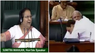 LS Speaker Sumitra Mahajan terms Rahul Gandhi hug a 'Natak..