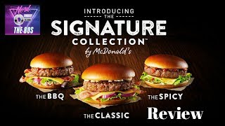 MCDONALD'S SIGNATURE COLLECTION CLASSIC BURGER FAST FOOD REVIEW UK