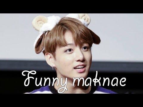 Jungkook making his hyungs laugh