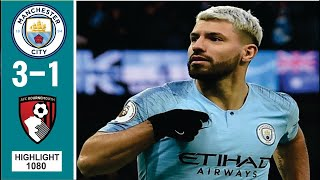 Manchester City vs Bournemouth (3-1) All Goals & Highlights HD