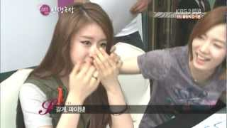 12.07.09 T-ara & Jiyeon - With her DaD