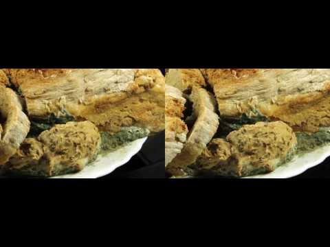 3D Time Lapse of rotting bread stereoscopic