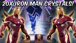 20x 5 Star Iron Man Infinity War Grandmaster Crystal Opening! - Marvel Contest Of Champions