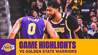HIGHLIGHTS | Los Angeles Lakers vs. Golden State Warriors