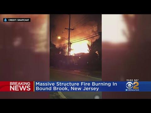 Massive Fire Destroys N.J. Buildings
