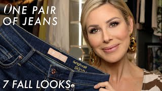 One Pair of Jeans, 7 Fall Looks   Dominique Sachse