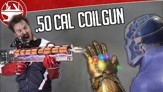 50 CAL ELECTRIC COILGUN VS THANOS