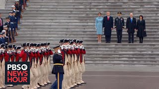President Donald Trump conducts troop review at U.S. Capitol