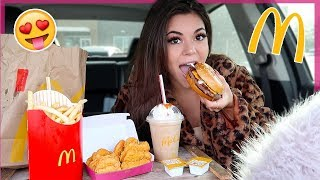 McDonalds Mukbang! *my new fav item* + 8 yr old Omegle stories | Steph Pappas
