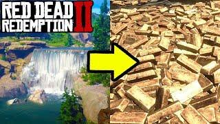 HIDDEN WATERFALL GOLD MINE! EASY MONEY IN RED DEAD REDEMPTION 2!