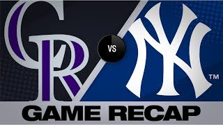 Balanced offense propels Yanks past Rockies | Rockies-Yankees Game Highlights 7/20/19