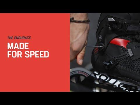 Video ROLLERBLADE Roller ENDURACE 110 - 2019 Noir Blanc