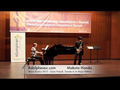 Makoto Hondo - Nova Gorica 2013 - Cesar Franck: Sonata in A Major III Mov