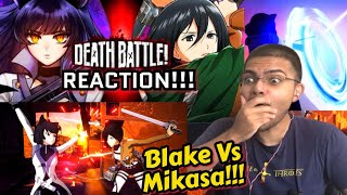 Blake VS Mikasa (RWBY VS Attack on Titan) Death Battle Reaction!!