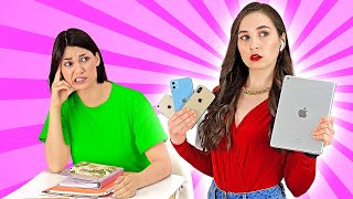 RICH VS NORMAL STUDENTS AT SCHOOL || Back to School Rich vs Broke Funny Girly Life by 123 GO! SCHOOL