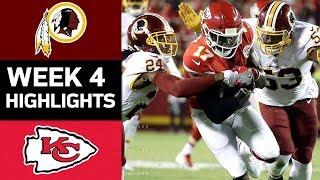 Redskins vs. Chiefs | NFL Week 4 Game Highlights