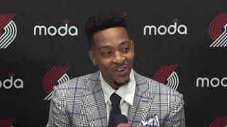 CJ McCollum contract extension press conference