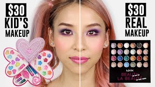 $30 Kid's makeup VS $30 Real Makeup