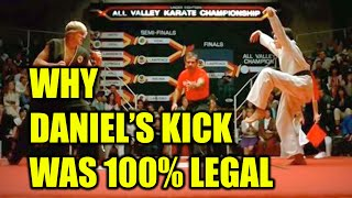 Here's why Daniel's kick was legal