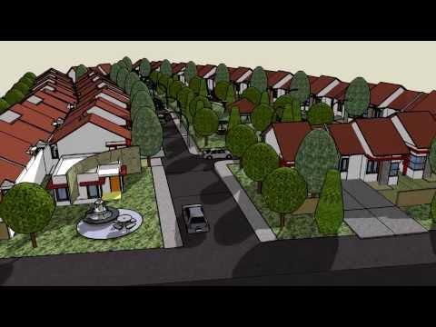 Disain Town House Terbuka