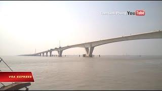 Cầu 'dài nhất Đông Nam Á' lún trước khi thông xe