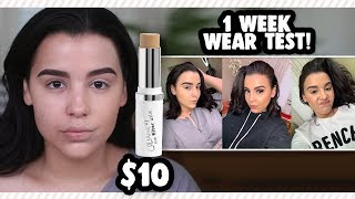 $10 FULL COVERAGE FOUNDATION?! I WORE COLOURPOP NO FILTER STIX FOUNDATION FOR A WEEK!