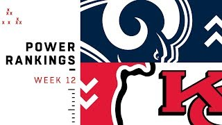 NFL Week 12 Power Rankings!