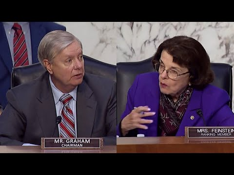 Lindsey Graham Dianne Feinstein praise each other at end of Amy Coney Barrett hearing
