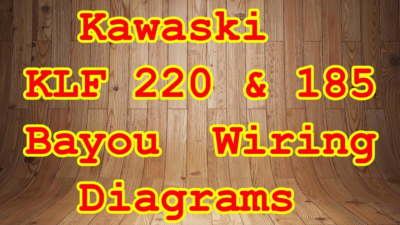 Klf 185  U0026 220 Bayou Wiring Diagrams