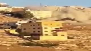 لحظة تفجير عمارة الارهابيين في نقب الدبور السلط / الاردن     -