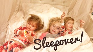 FIRST SLEEPOVER with EVERLEIGH, COLE and SAV!