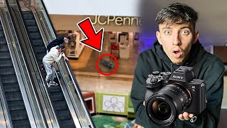Destroying my Cameraman's Camera, Then Surprising Him With a NEW ONE!