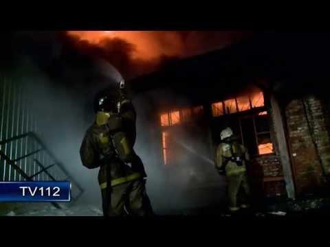 Пожар в мебельном цехе на пр. Ленинградском в Архангельске