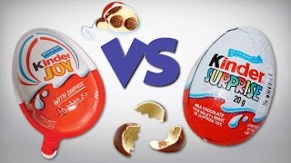 Differences Between Kinder Surprise & Kinder Joy Chocolate Eggs