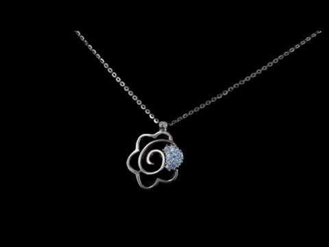 Browns Family Jewellers Rose Necklace