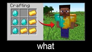 Minecraft wait what meme part 45 (Gold-Diamond Chestplate)