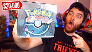 OPENING THE 1st EDITION POKEMON CARD BOX ($20,000)