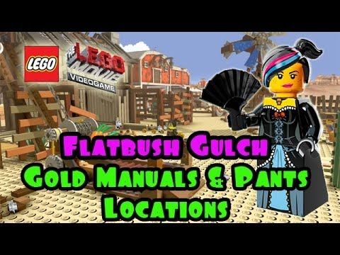 Flatbush Gulch - Gold Manuals & Pant Locations (The Lego Movie Video Game) FREE PLAY - Smashpipe Games