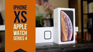 iPhone Xs & Apple Watch Series 4 Unboxing / First Look!