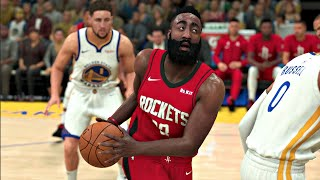 NBA 2K20 Gameplay - Golden State Warriors vs Houston Rockets – 12 Minute Quarters (NBA 2K20 PS4)