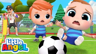 Let's Play Soccer! | Sports Song | Little Angel Kids Songs & Nursery Rhymes