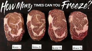 HOW MANY times can you FREEZE A STEAK?