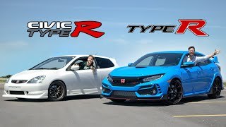 2020 Honda Civic Type R vs 2002 EP3 Civic Type R // VTEC Wars