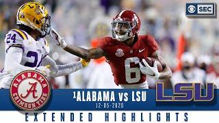 #1 Alabama Crimson Tide vs. LSU Tigers: Extended Highlights| CBS Sports HQ