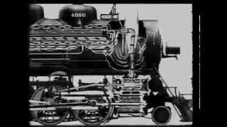 Operation of a steam loco, ATSF 1930's