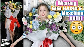 I Wore GIGI HADID's Moschino SS18 Outfit for A Day