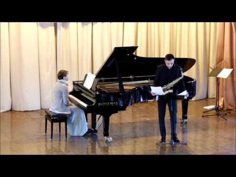 "GOLDEN SAXOPHONE 2015. Jarosz Jakub. Roberto Marino, ""Duo Concerto"""
