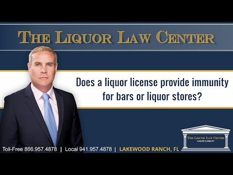 Does a liquor license provide immunity for bars or liquor stores?